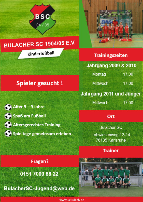 Spielberichte F Jugend Bulacher Sc 1904 05 E V